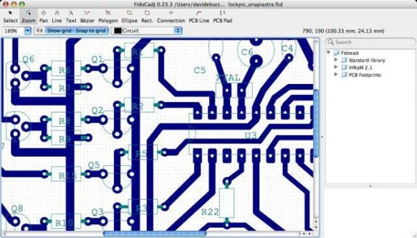FidoCadJ – Simple and intuitive 2D vector drawing for electronics and not only