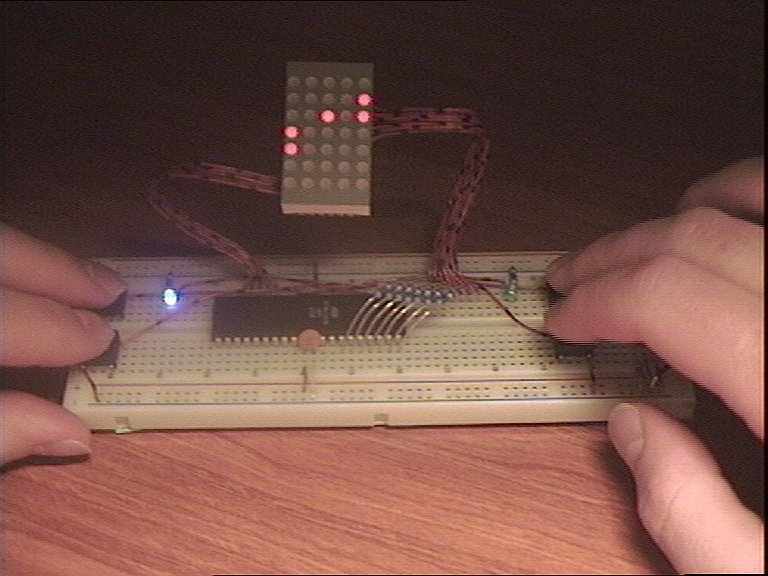 LED DOT Matrix Pong using ATMega16 Microcontroller