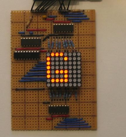 LED Matrix Display board and circuit