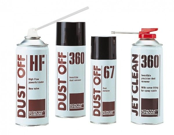 Blow the dust away safely with the Dust off spray