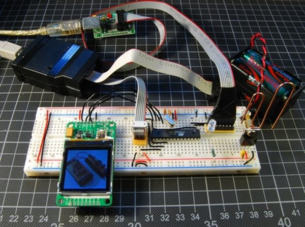 Flickr images on a Nokia LCD using ATmega48
