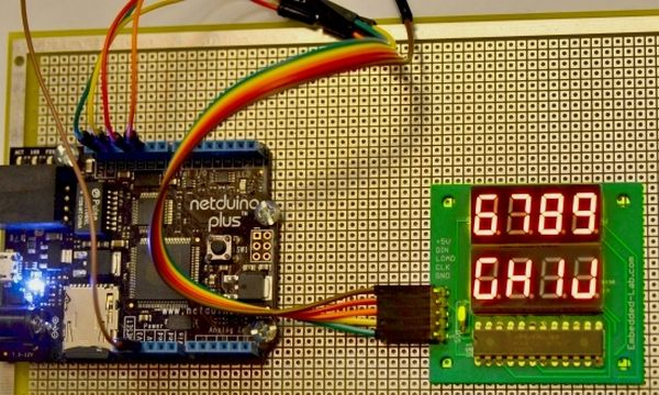 Netduino and MAX721 interfacing for driving seven segment LED displays
