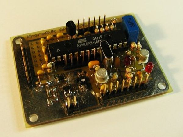 The WhereAVR using ATmega8 microcontroller