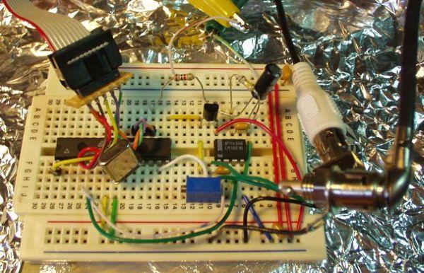 Video Overlay using ATmega8 microcontroller