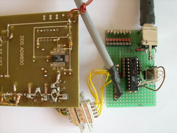 Atmel AVR-firmware based universal USB-Interface using ATTiny2313
