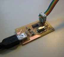 FabISP, a fab-able in-system programmer using ATtiny44