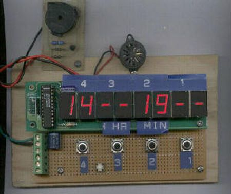 xTimer V1.0 using AT89C4051 microcontroller