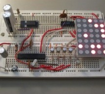 Dot Matrix Arduino Clock using ATMega168