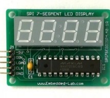 New version of MAX7219 based 4-digit serial seven segment LED display