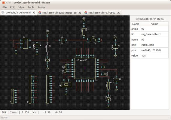 Razen is a collaborative, scriptable schematic and PCB layout tool