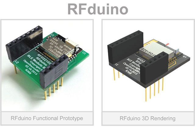 RFduino: A finger-tip sized, Arduino compatible, wireless enabled microcontroller