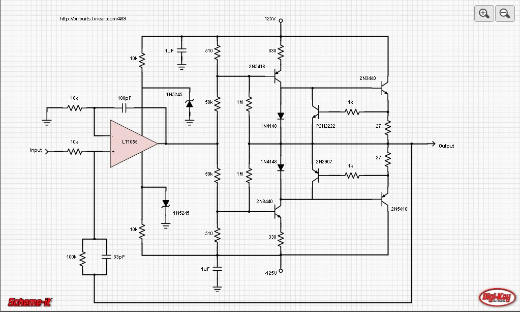 High-Voltage Output Circuit