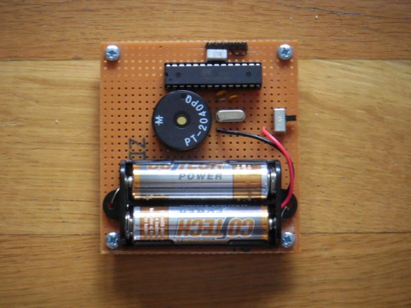An electronic dice using ATmega8