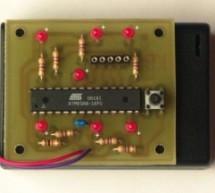 An electronic dice using ATmega8