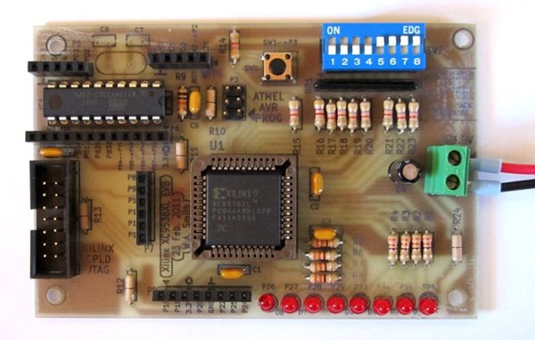 Xilinx CPLD Board Electronic Project