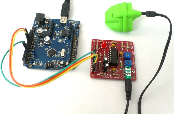 PC-based heart rate monitor using Arduino and Easy Pulse sensor