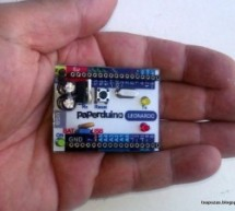 Leonardo Arduino clone a single-sided PCB using ATmega32U4