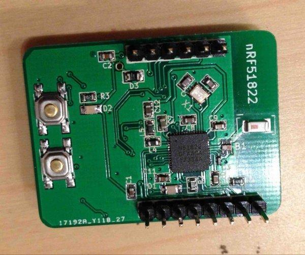 HackManhattan's Nordic nRF51822 breakout board