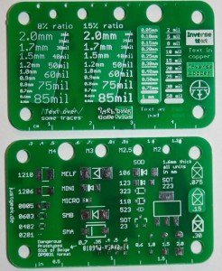 Simple silkscreen reference board