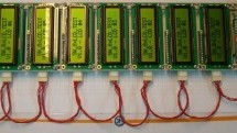 How to interface 8 LCD displays and 24 leds with only two wires