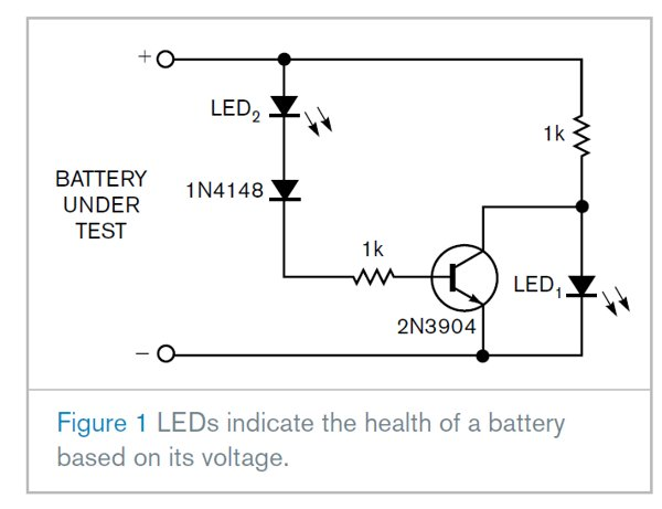 Simple circuit indicates health of lithium-ion batteries