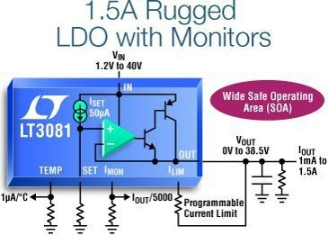 Single Resistor Rugged Linear Regulator with Monitors
