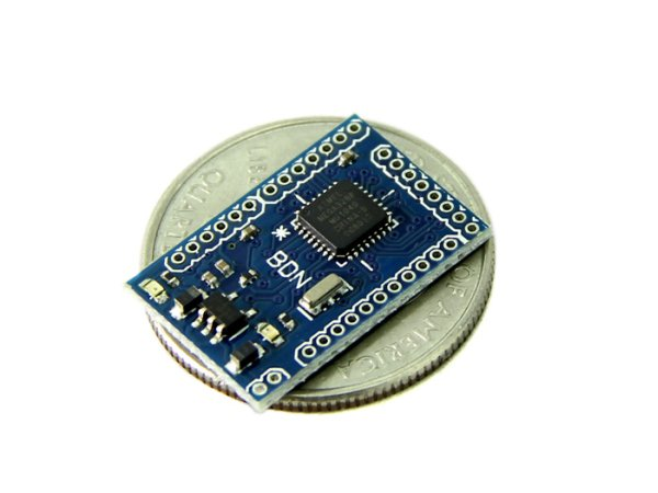 Smallest arduino compatible board atmega avr