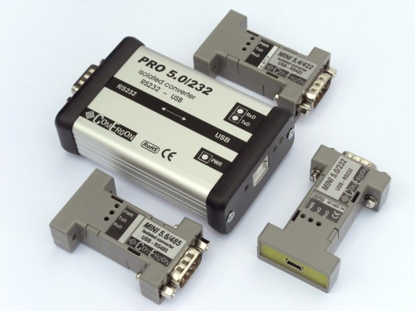Customer solution: Trouble-free RS232, RS422, RS485 to USB conversion