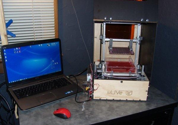 UV resin based mUVe 1 3D Printer source files released