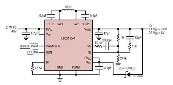 Buck-Boost DC-DC Handles Wide Input-Voltage Range