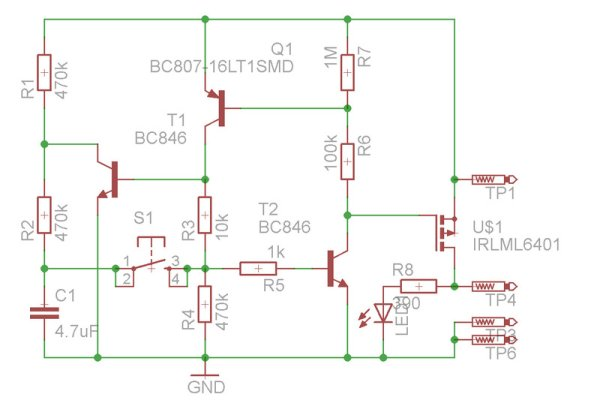 Latching Momentary Switch for breadboard
