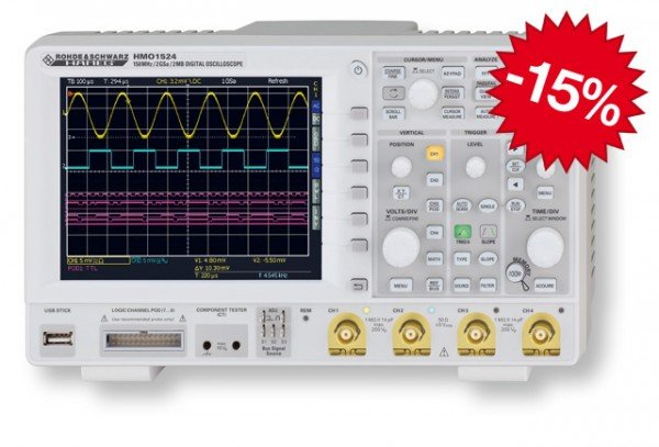 Hameg oscilloscopes - yet two months for an extra price