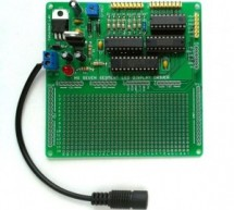 High-voltage seven segment LED display driver with SPI interface
