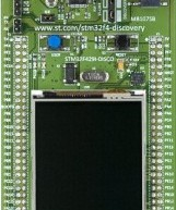 New STM32F4 discovery board features TFT LCD