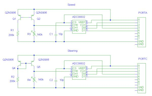 RC Car Controller Using Atmel 4414 chip