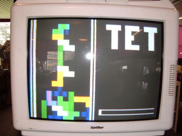 Color Tetris video game using ATMega32