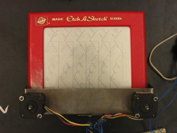 Electr-O-Sketch Using Atmega 32