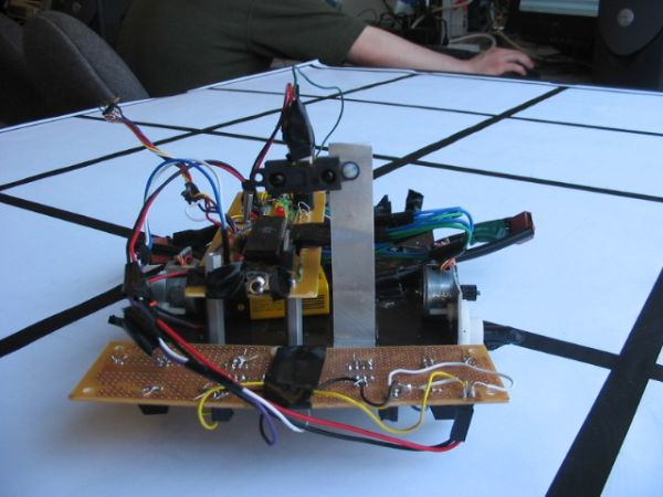 Autonomous navigating robot Using Atmel Mega32