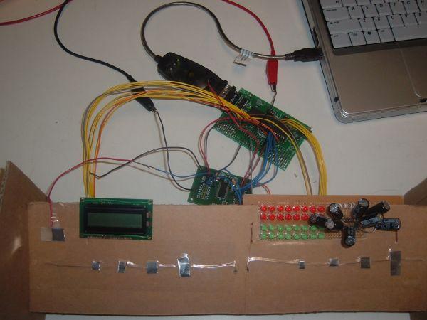 Capacitance sensor MIDI keyboard Using Atmel mega32
