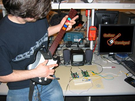 Guitar Synthesizer and Game Using Atmega32