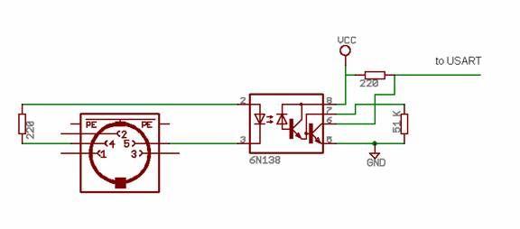 MCU MIDI synthesizer using Atmega32 Diagram