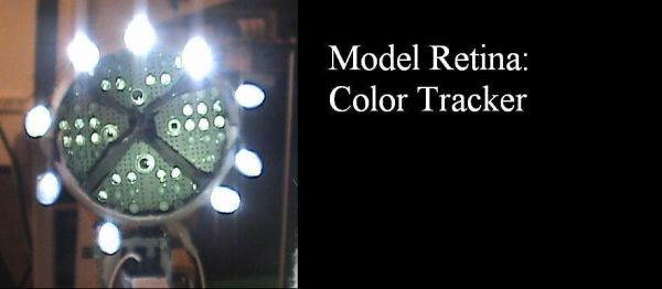 Model retina: color tracker Using Atmega32