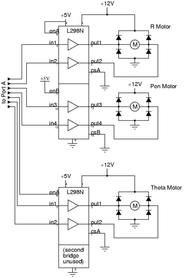 Radial Chalker Using Atmel Atmega32 Diagram