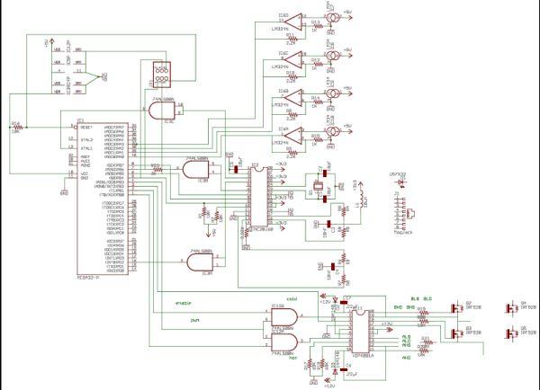 UDP Ethernet Controlled Temperature Regulator Using Atmega32 Schemetic