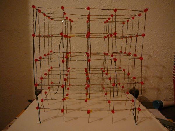 Схема светодиодный куб 5 х 5 х 5