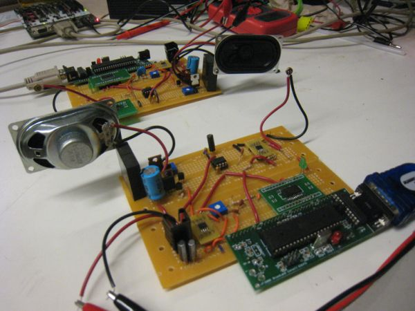 Acoustic Data Modem Using Atmega644