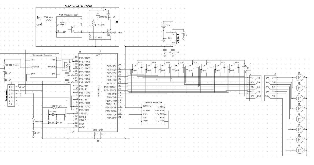 Haptic appointment manager Using Atmega644 Schemetic