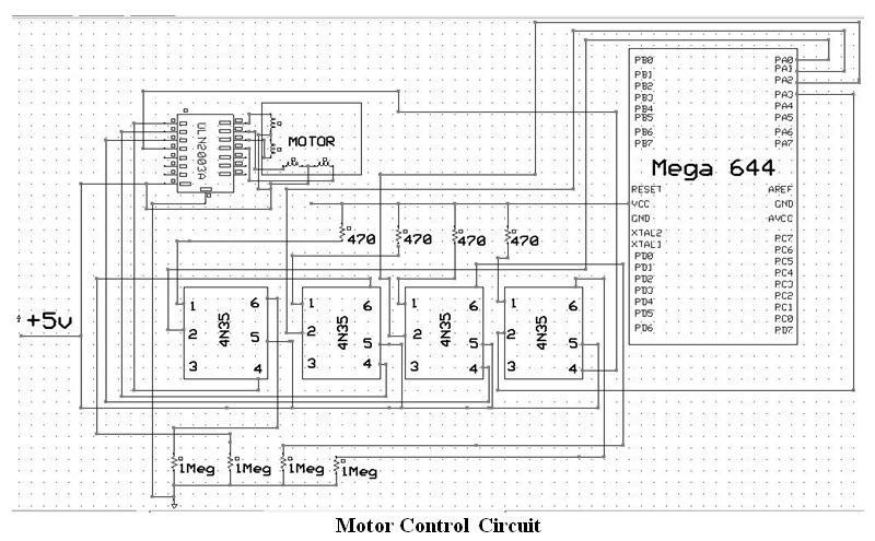 Human Tracking Fan System Using Atmega644 Schemetic