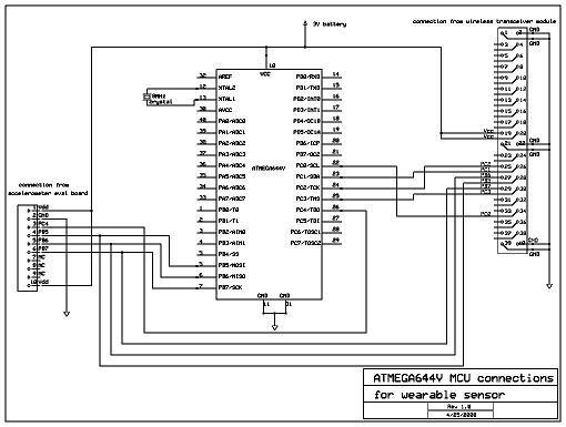 Intelligent wireless pedometer Using Atmega32 Schemetic