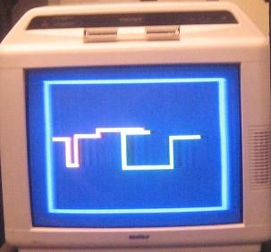 Multi-Player Light Cycle on Color TV Using Atmega32